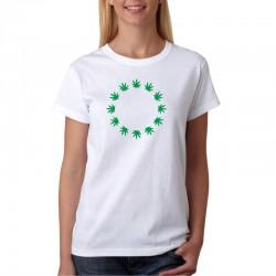 Marihuana Euro Znak - Dámské Tričko s vtipným potiskem