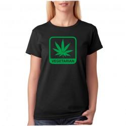 Vegetarian, Marihuana- Dámské Tričko s vtipným potiskem