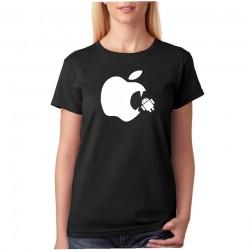 Apple Vs Android - Dámske Tričko s vtipnou potlačou