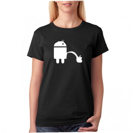 Android Vs Apple - Dámské Tričko s vtipným potiskem