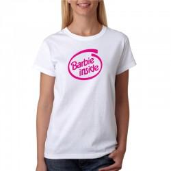 Barbie Inside - Dámske Tričko s vtipnou potlačou