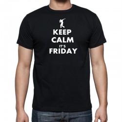 Keep Calm Its Friday- Pánske Tričko s vtipnou potlačou