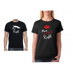 Mrs. Always Right - Dámské Tričko s vtipným potiskem