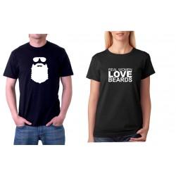 Beards - Pánské Tričko s vtipným potiskem