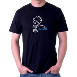 Anti facebook - Pánske Tričko s vtipnou potlačou