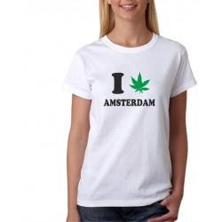 I canabis Amsterdam - Dámske Tričko s vtipnou potlačou